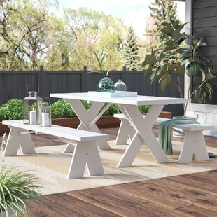 Wyona Plastic/Resin Picnic Table with Benches