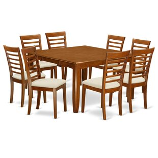 Parfait 9 Piece Dining Set by Wooden Importers Best #1