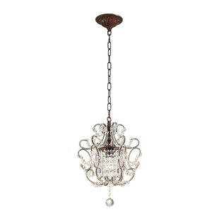 Keasler 1-Light Crystal Pendant by Ophelia & Co.