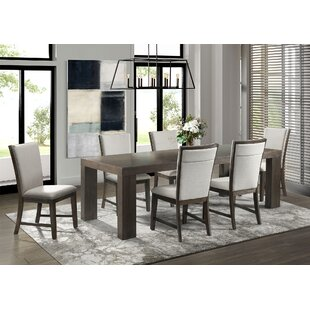 Ruthton 7 Piece Solid Wood Dining Set Gracie Oaks
