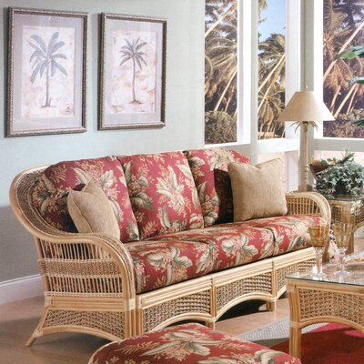 Sofa Spice Islands Wicker Upholstery: Fruit Punch