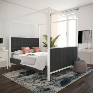 CosmoLiving by Cosmopolitan Bowery Queen Upholstered Canopy Bed