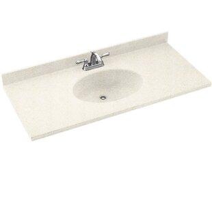 Great Price Chesapeake Solid Surface 55 Single Bathroom Vanity Top BySwan