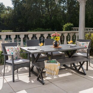 Netherby 6 Piece Dining Set with Cushions by Breakwater Bay