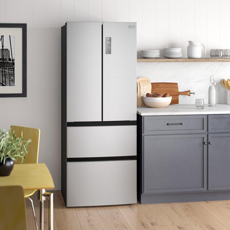 Haier 28 Counter Depth French Door 15 Cu Ft Refrigerator Reviews Wayfair Ca