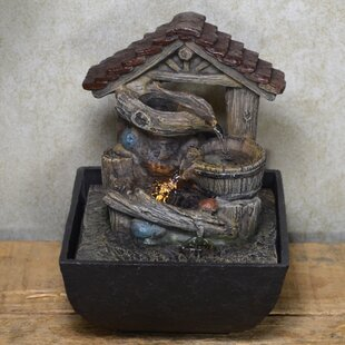 Darrin Resin Pots Under Roof Fountain With LED Light By August Grove