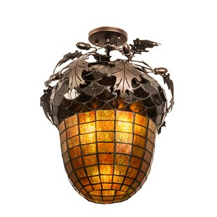 Loon Peak Zakrzewski 2-Light Semi Flush Mount