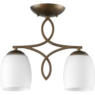Mcguire 2-Light Semi Flush Mount by World Menagerie