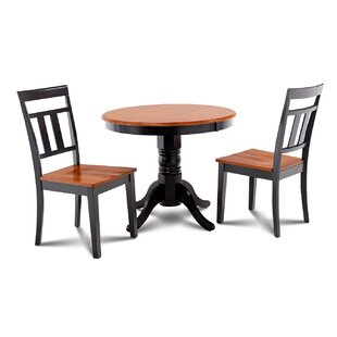 Cedarville 3 Piece Carved Solid Wood Dining Set Alcott Hill
