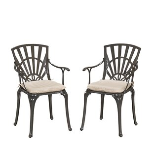 Frontenac Patio Dining Chair with Cushion (Set of 2)