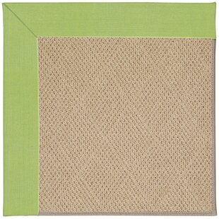 Lisle Machine Tufted Parakeet/Brown Indoor/Outdoor Area Rug