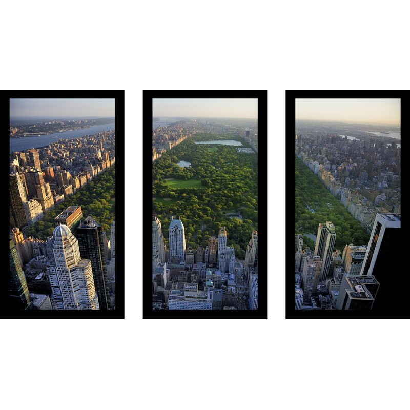 Pictureperfectinternational Central Park New York 3 Piece Framed Photographic Print Set Wayfair