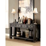 Swanscombe 64 Solid Wood Console Table by World Menagerie