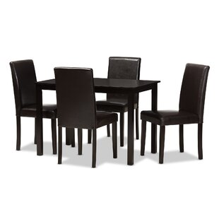 Parsley Modern and Contemporary 5 Piece Dining Set Red Barrel Studio