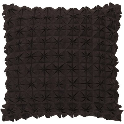 Brayden Studio Ebro Structure 100% Wool Throw Pillow Cover Color: Brown, Size: 18 H x 18 W x 0.25 D