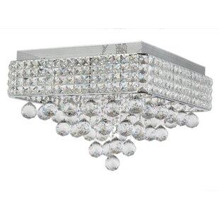 Everly Quinn Ahlstrom 6-Light Crystal Shade Flush Mount