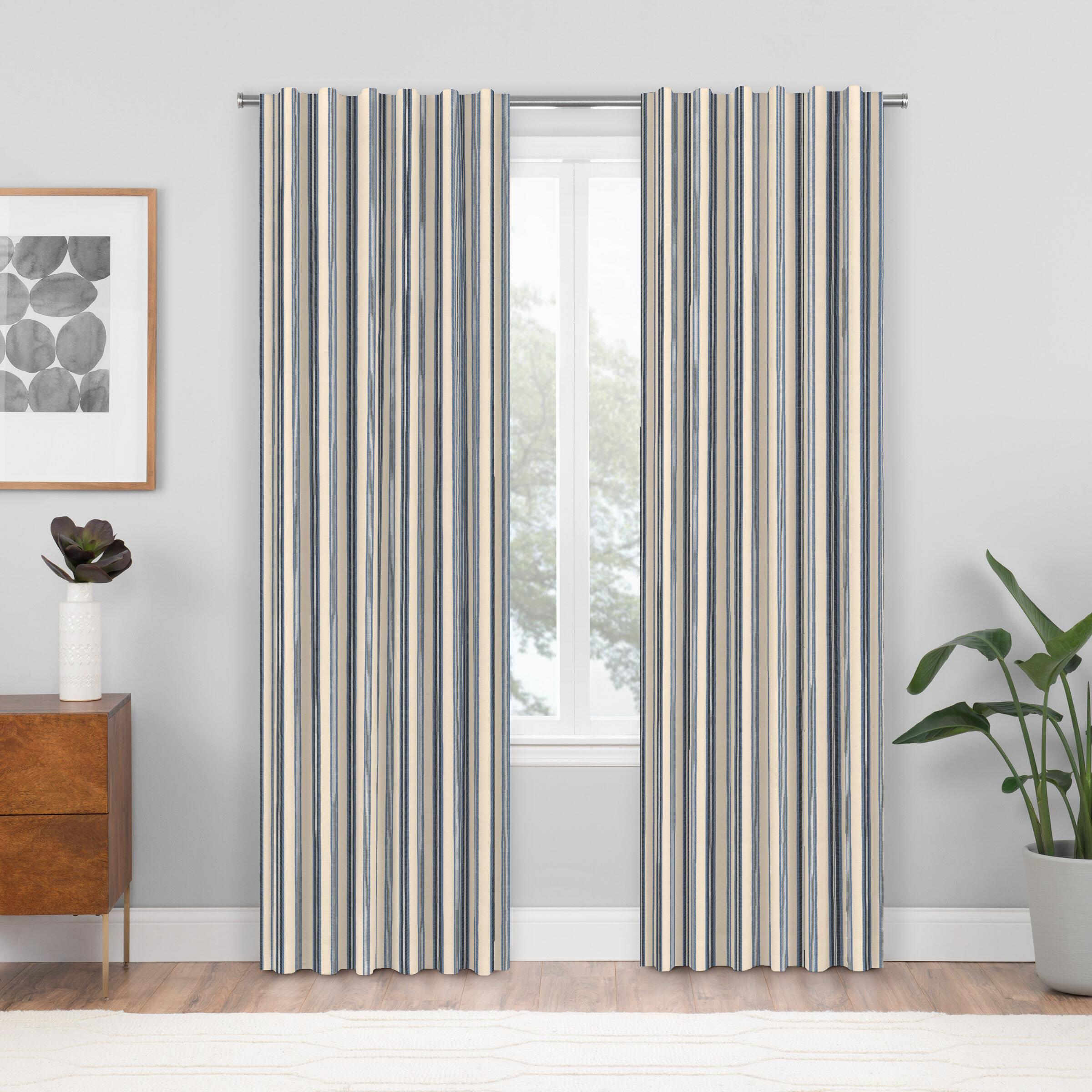 Dovecove Ceya Striped Room Darkening Rod Pocket Single Curtain Panel Reviews Wayfair