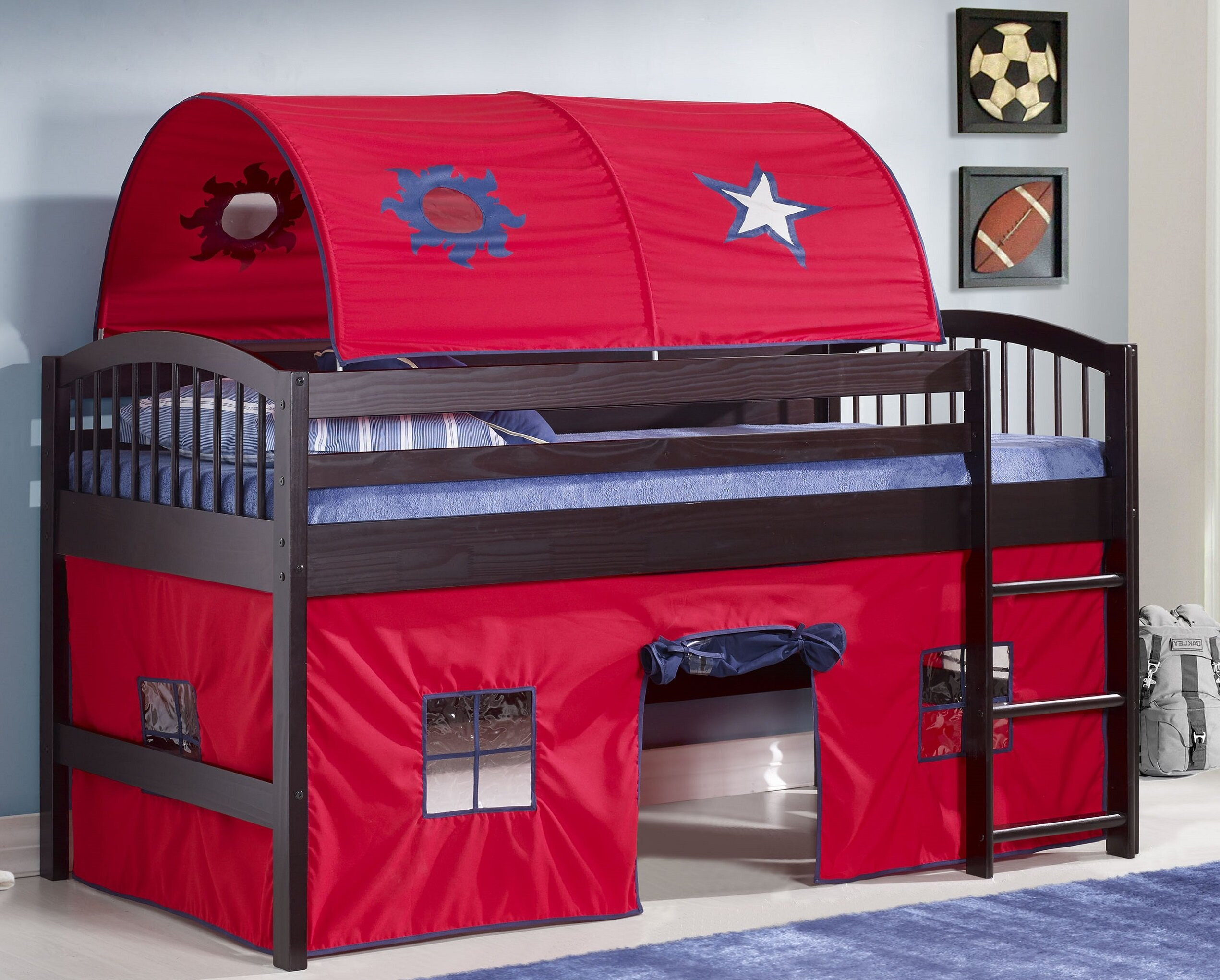 Zoomie Kids Abigail Twin Low Loft Bed Reviews Wayfair