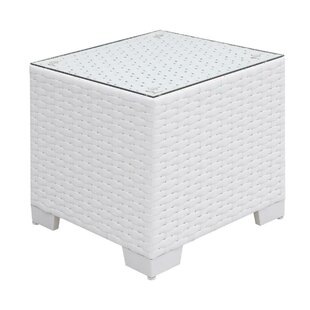 Mckenzie Aluminum Frame Square End Table by Rosecliff Heights