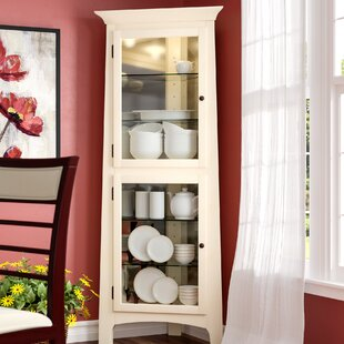 Westview Lighted Corner Curio Cabinet