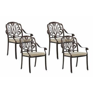Frakes Stacking Garden Chair With Cushion (Set Of 4) By Astoria Grand