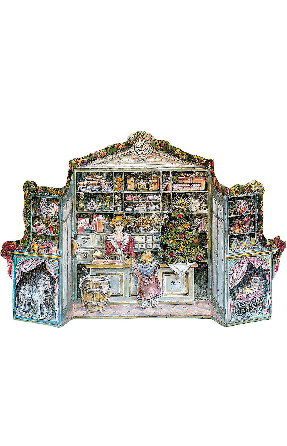 The Holiday Aisle Raci 3 Dimensional Victorian Store Advent Calendar Reviews Wayfair