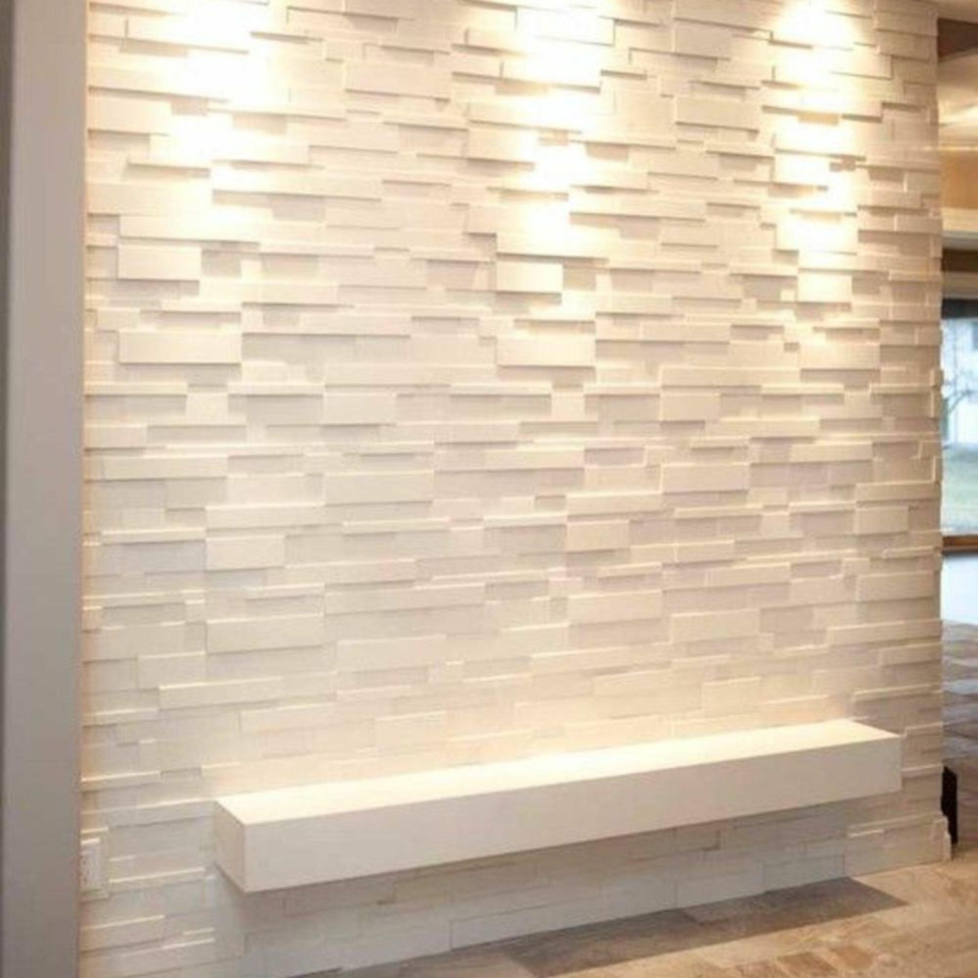 Latitude Run 20 X 20 Vinyl Wall Paneling In Gloss White Wayfair
