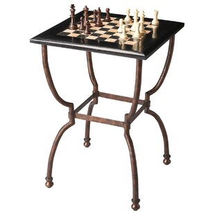 Metalworks Chess Table by Wildon Home®