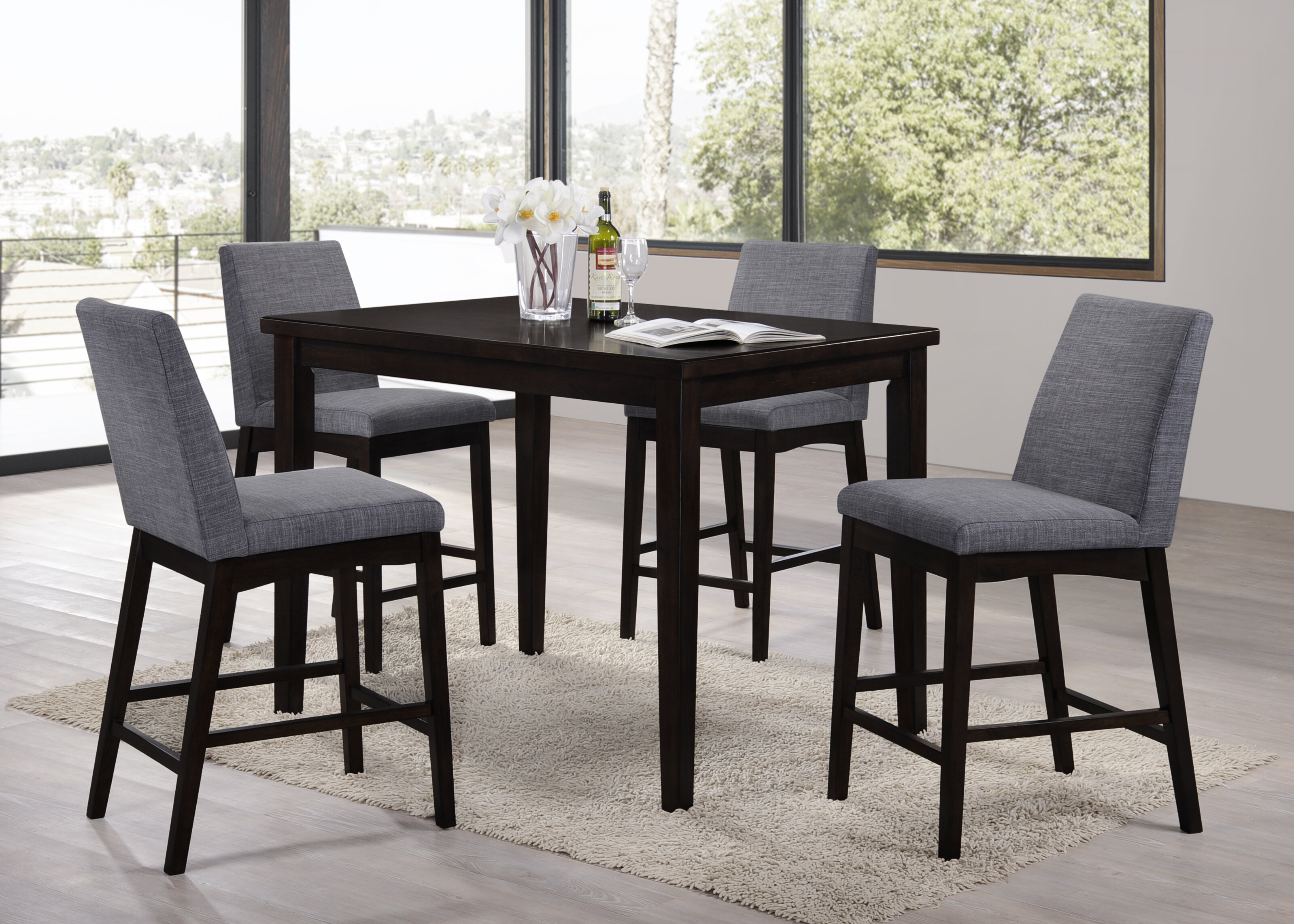 Lovely 5 Piece Bar Height Patio Set