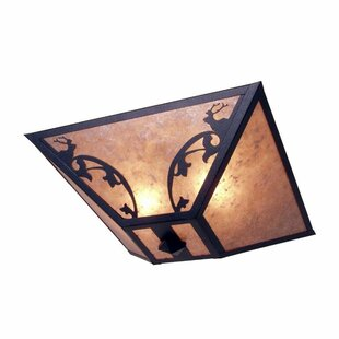 Steel Partners Bavarian Elk 2-Light Flush Mount