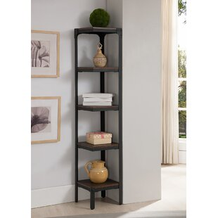 InRoom Designs 5 Tier Corner Unit Bookcase