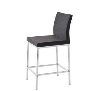 Heffington Wool 24 Bar Stool Orren Ellis