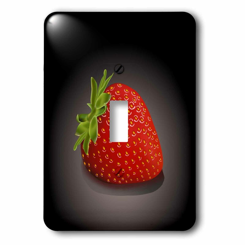 3drose Strawberry 1 Gang Toggle Light Switch Wall Plate Wayfair