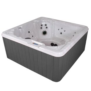 Havana Bay Luxury 8-Person 90-Jet Hot Tub With LED Light With Ozonator By QCA Spas