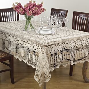 Crochet Lace Tablecloth Oval | Wayfair