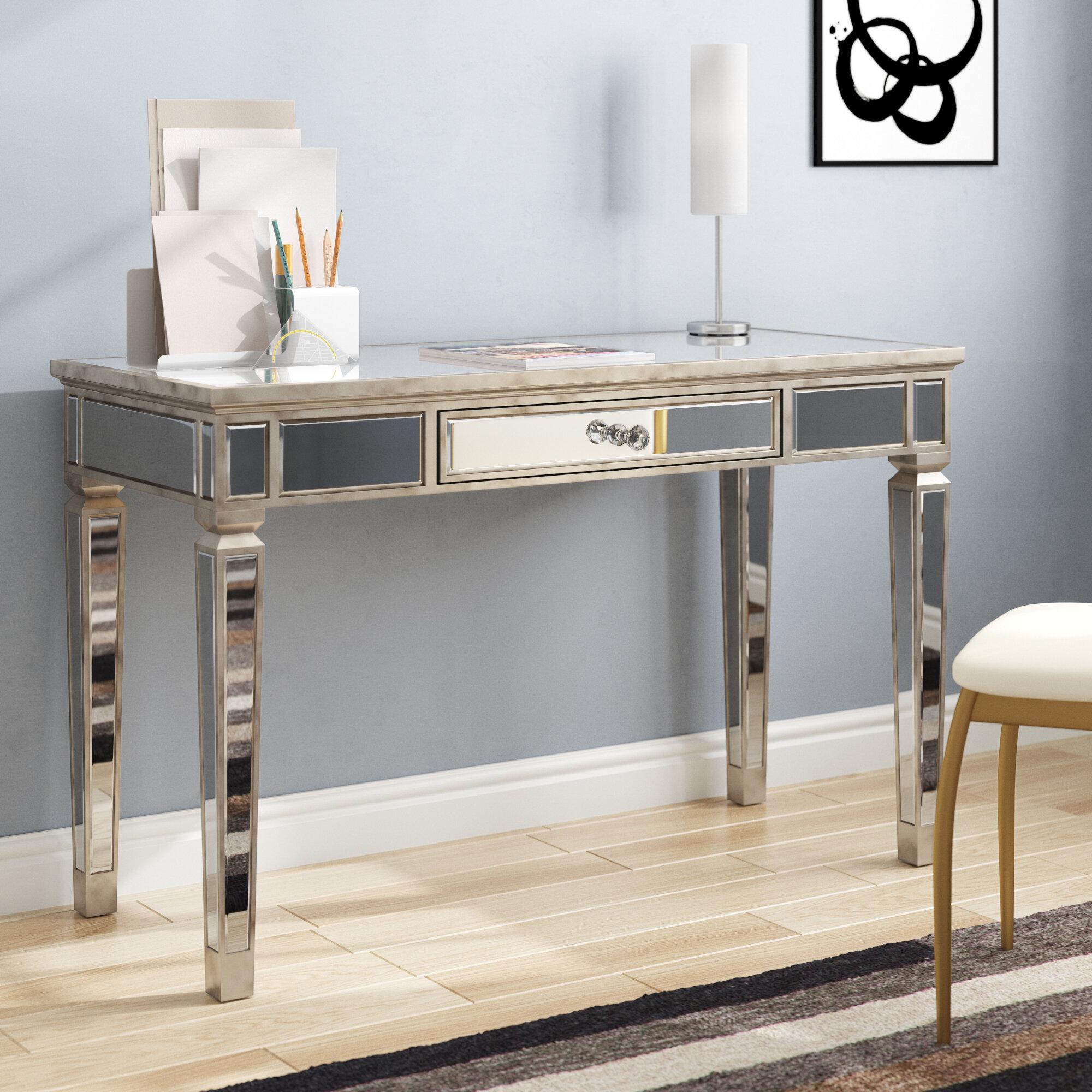 Mirrored Computer Desk Home Design Ideas
