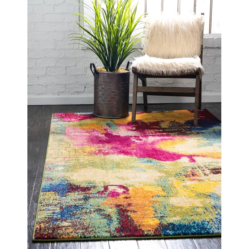 Wrought Studio Auyeung Power Loom Pink Rug Reviews Wayfair