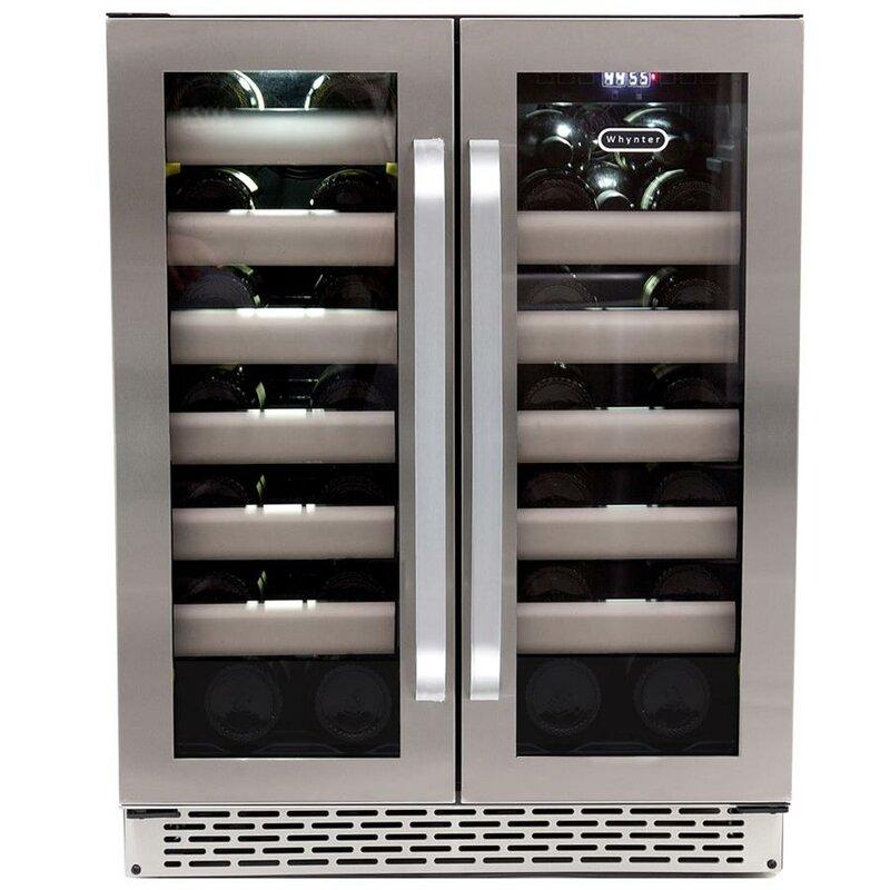 40 bottle elite dual zone convertible wine cooler