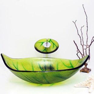 Arsumo Glass Oval Vessel Bathroom Sink