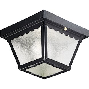 Price Check Reinhart LED Outdoor Flush Mount By Charlton Home