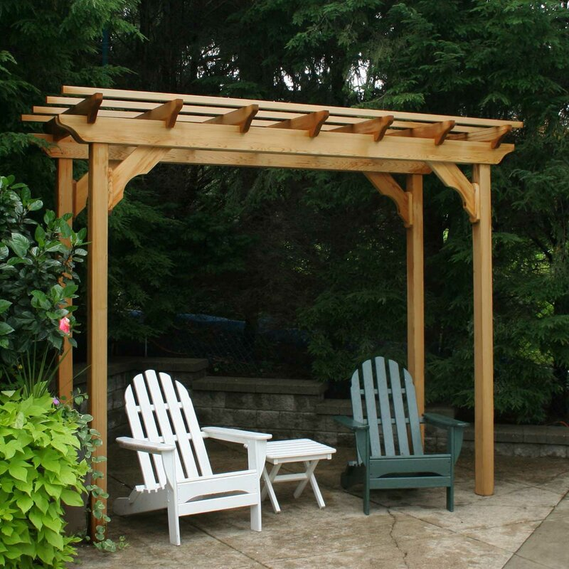 Creekvine Designs Cedar New Dawn 14 Ft. W x 4 Ft. D Solid Wood Pergola  Finish: No Finish