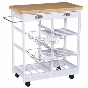 Richards Kitchen Trolley With Pine Top By August Grove