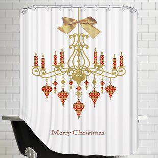 Christmas Chandelier Single Shower Curtain