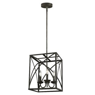 Jalonte 3-Light Square/Rectangle Pendant by Gracie Oaks