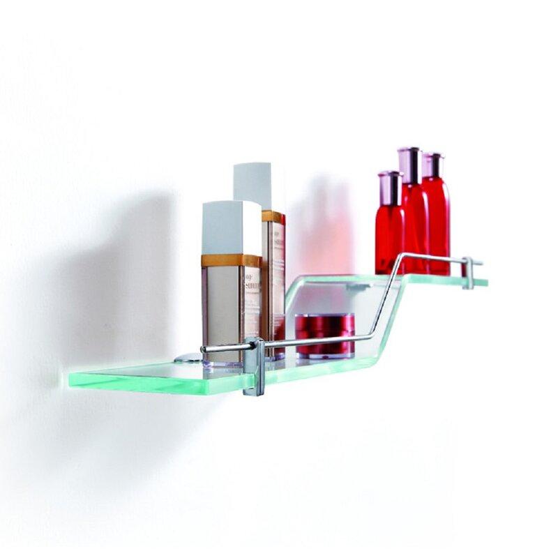 Fab Glass and Mirror Glass Accent Shelf | Wayfair