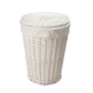 Wicker Round Laundry Basket With Liner