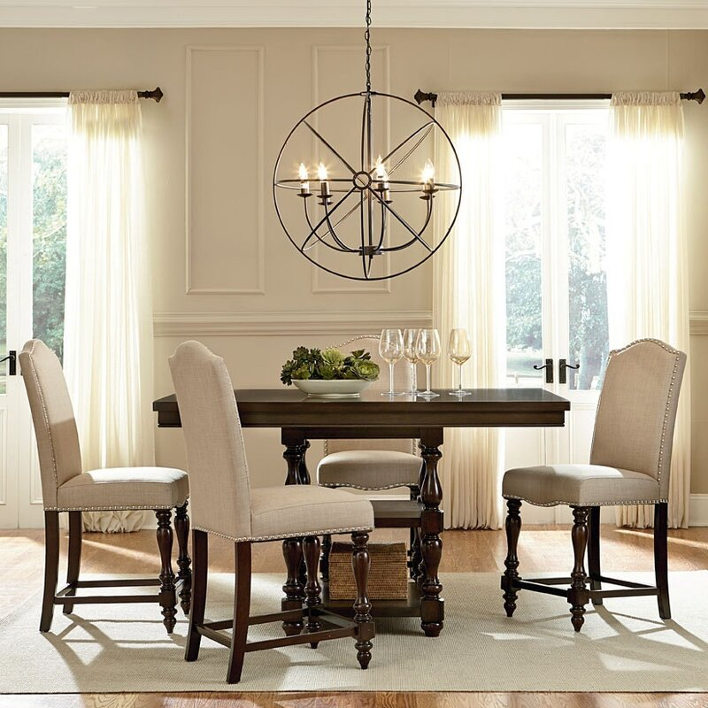 Genial Baxton Studio 5 Piece Counter Height Dining Set