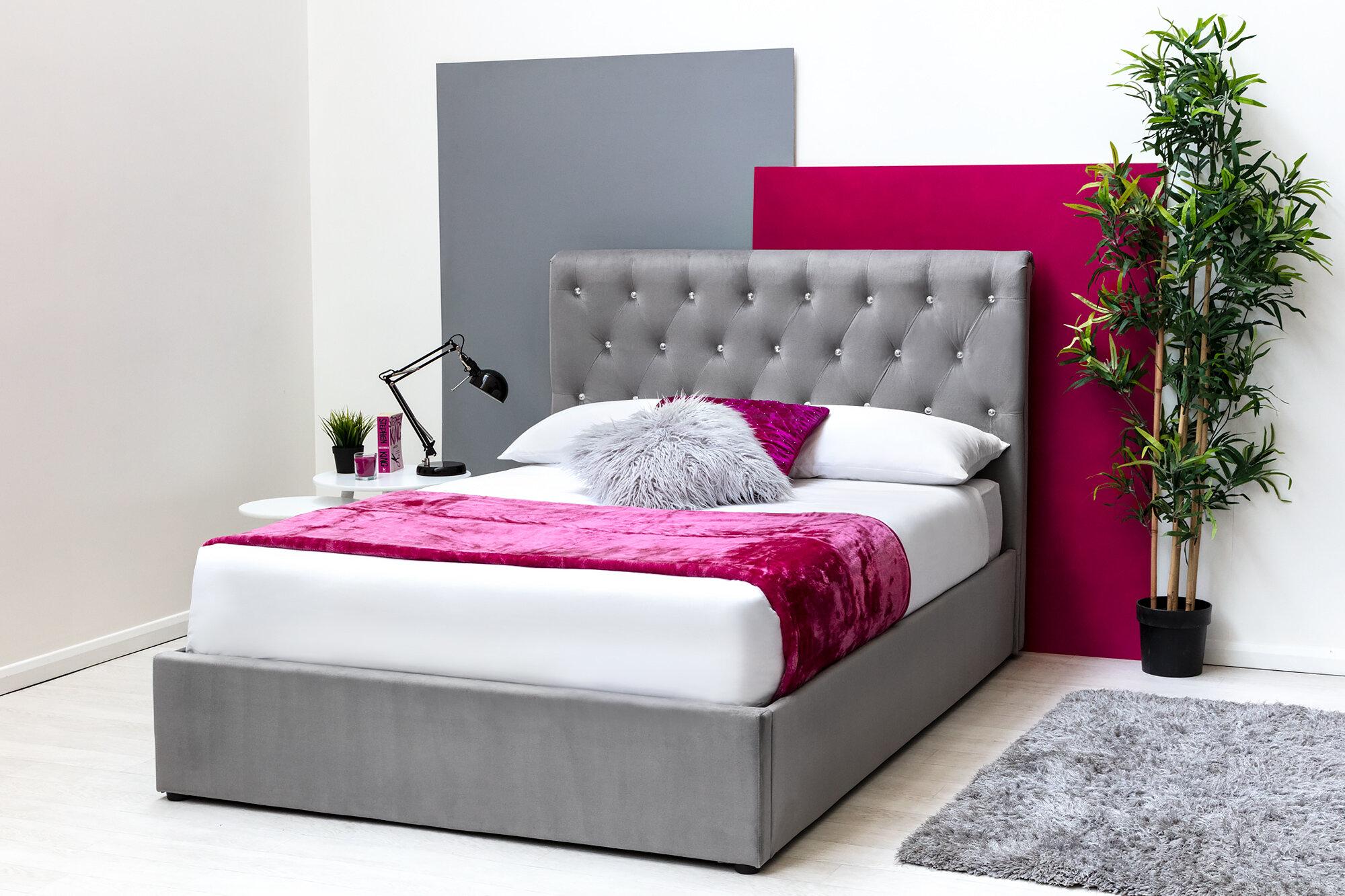 In Stock E4bc3 E0425 King Size Ottoman Bed With Mattress Nolataridobermans Co Uk