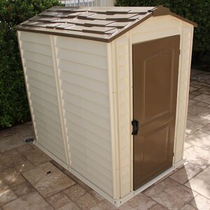 3 ft. 10 in. W x 5 ft. 8 in. D Plastic Tool Shed