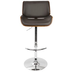 Connor Adjustable Height Swivel Bar Stool by Wade Logan
